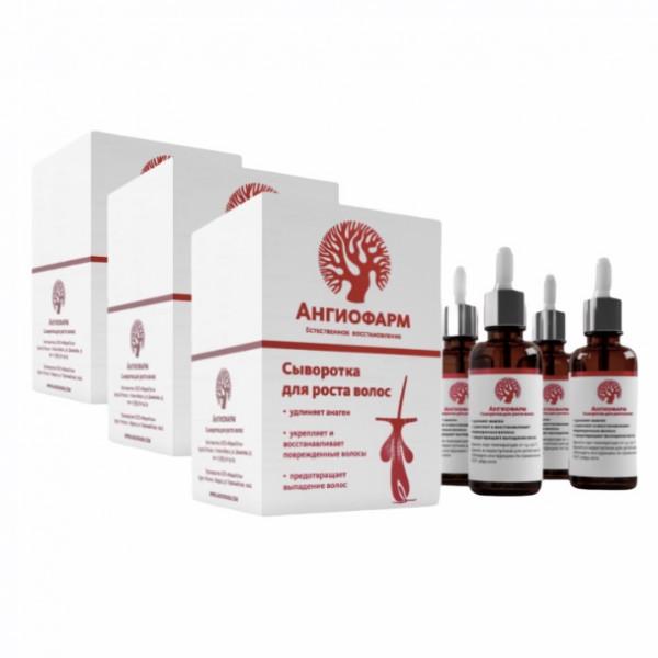 Сыворотка для роста волос «Ангиофарм» 12*30 мл Курс на 3-4 месяца